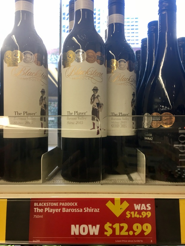 Blackstone Paddock 'The Player' Shiraz, Barossa Valley, 2015 - amazing value at $12.99