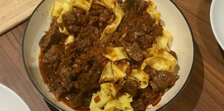 Slow Cooker Beef Brisket Ragu